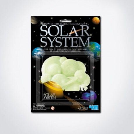 SISTEMA SOLAR ADHESIVO FLUORESCENTE 3D