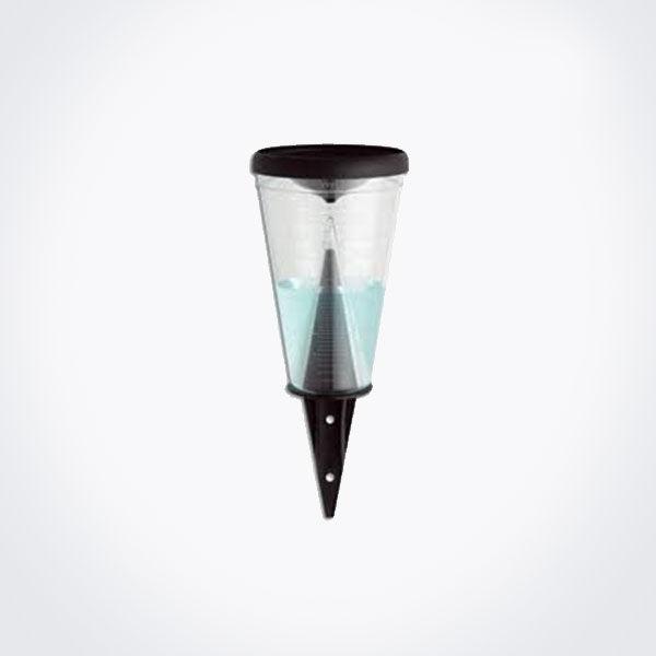Pluviómetro plástico TFA con capacidad para 70 mm