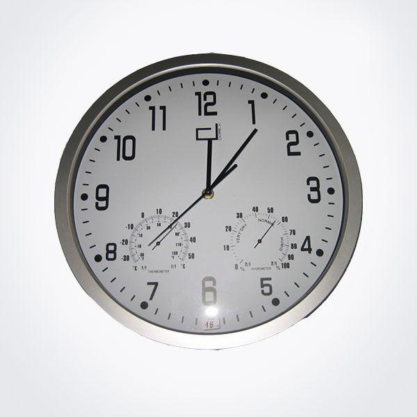 Reloj de pared con term metro e higr metro di m 35 cm - Termometro de pared ...