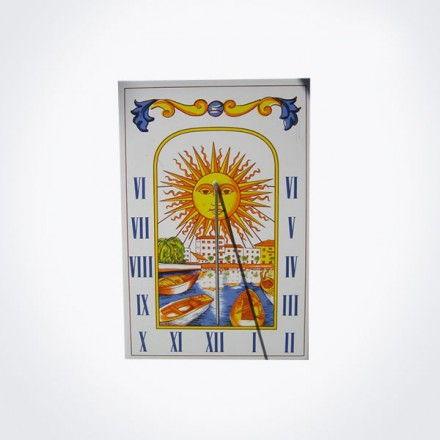 Azulejo reloj de sol 20×30 cm.