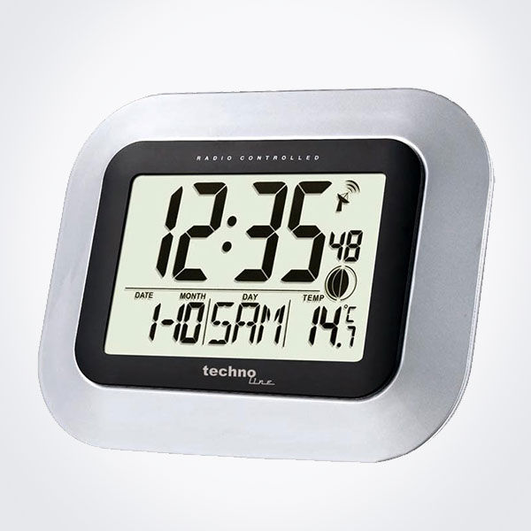 Reloj digital para pared con temperatura interior La Crosse WS8005