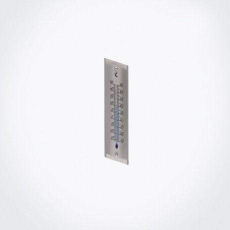 Termómetro metálico biselado para exterior