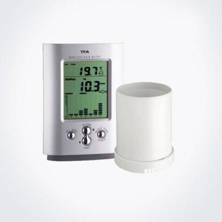 Pluviómetro digital con temperatura interior y exterior TFA 47.3003