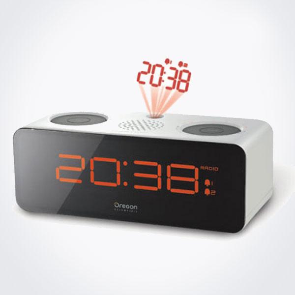 Radio reloj proyector Oregon RRA-320-PN