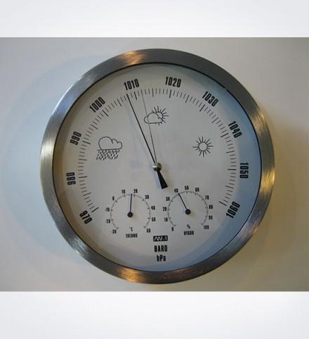 Estación meteorológica con barómetro, termómetro e higrómetro diámetro 230 mm.