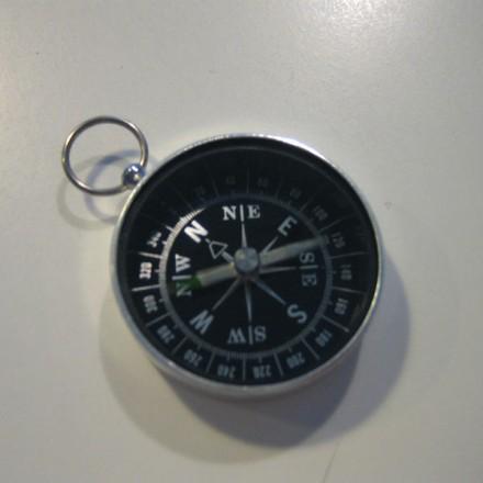 Brújula de bolsillo de aluminio y cristal