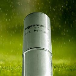 Pluviómetro Hellmann con capacidad para 120 mm