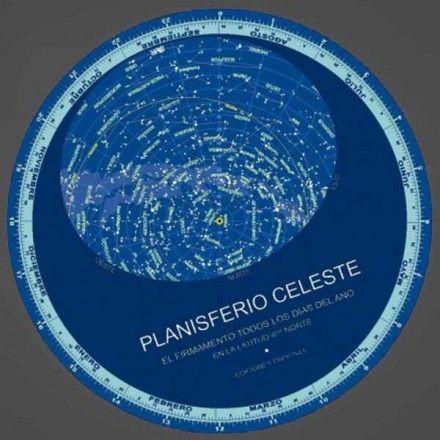 PLANISFERIO CELESTE CARTÓN DIÁMETRO 24 cm