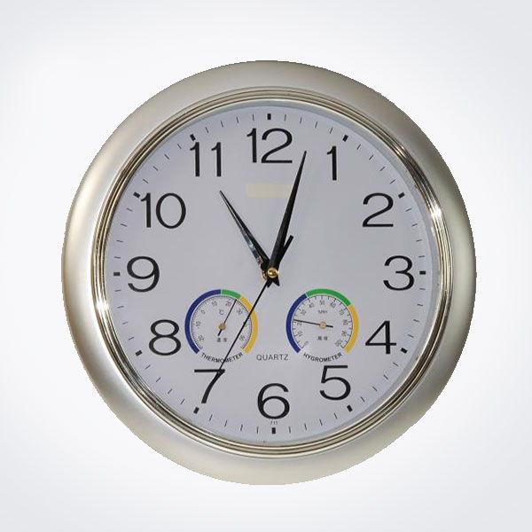 Reloj de pared gran di metro con term metro e higr metro - Termometro de pared ...