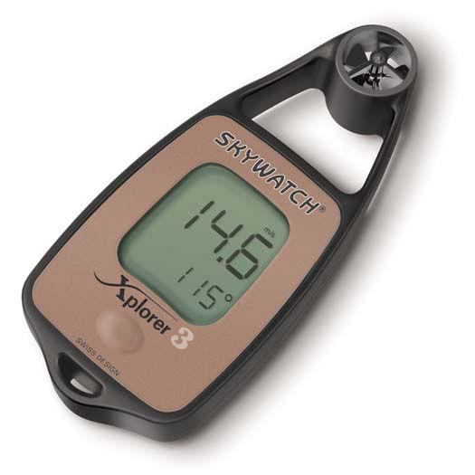 Anemómetro digital con termómetro y brújula Skywatch Xplorer 3