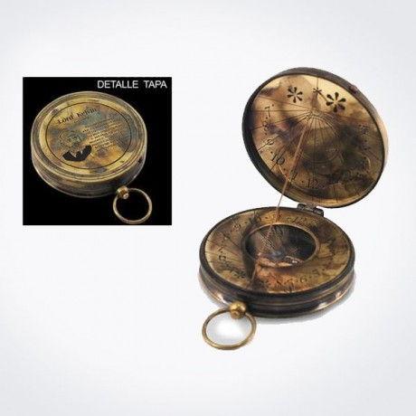 Brújula con reloj de sol incorporado gnomon móvil