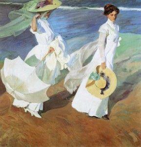 """""""Mujeres caminando por la playa"""", uno de los cuadros más """"marítmos"""" de Joaquín Sorolla."""