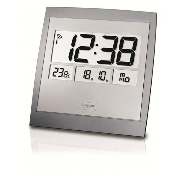 Reloj digital de pared con temperatura interior Oregon JM-889-NR