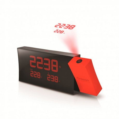 Reloj proyector con temperatura int/ext Oregon RMR-221-P color rojo