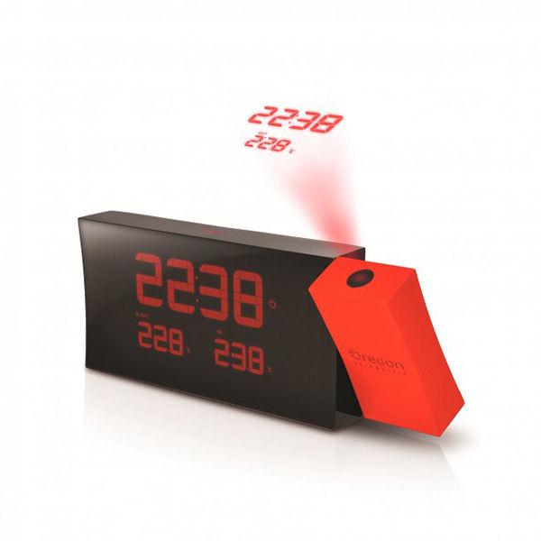 Reloj proyector con temperatura int/ext Oregon RMR-221-P color rojo