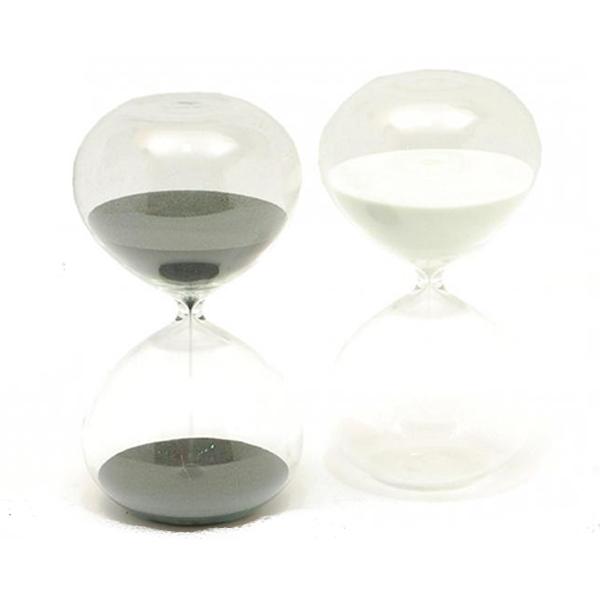 Reloj de arena de 60 minutos con arena blanca
