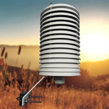Garita protectora de 12 platos para sensores de temperatura y humedad
