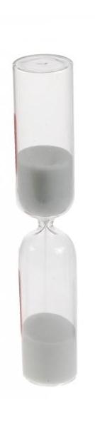 Reloj de arena de 15 minutos con arena blanca