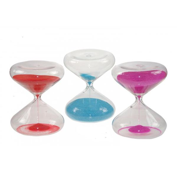 Reloj de arena de 30 minutos con arena fucsia