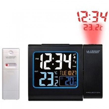 Reloj digital con proyección de hora y temperatura exterior La Crosse WS 552