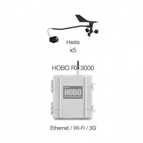 Anemómetro Davis con estación HOBO RX3000