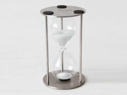 Reloj de arena de 5 minutos con estructura de acero