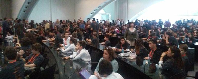 Como cada año, el auditorio completamente lleno. Con el acto de entrega de premios concluyó, un año más, Experimenta.
