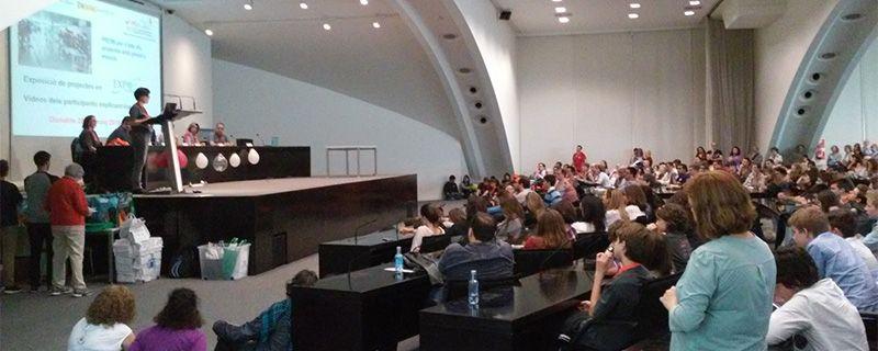 Chantal Ferrer, alma mater de Experimenta, en la entrega de premios realizada en el auditorio del Museo Príncipe Felipe de la Ciudad de las Artes y las Ciencias.
