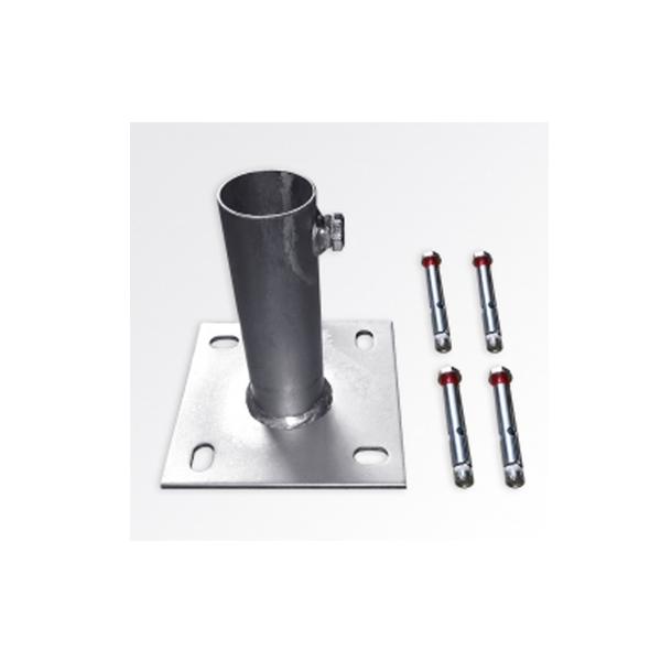 Base de montaje para mástil de acero galvanizado
