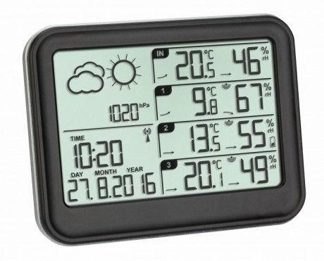 Estación meteorológica digital con tres sensores TFA 35.1142.01