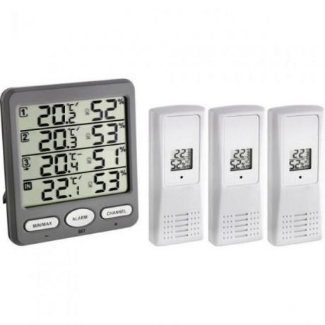Termohigrómetro digital con tres sensores TFA 30.3054.10
