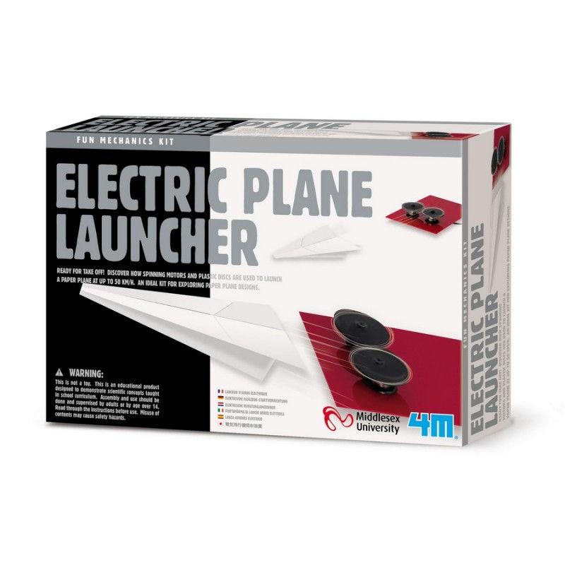 Lanzador eléctrico de aviones de papel 4M
