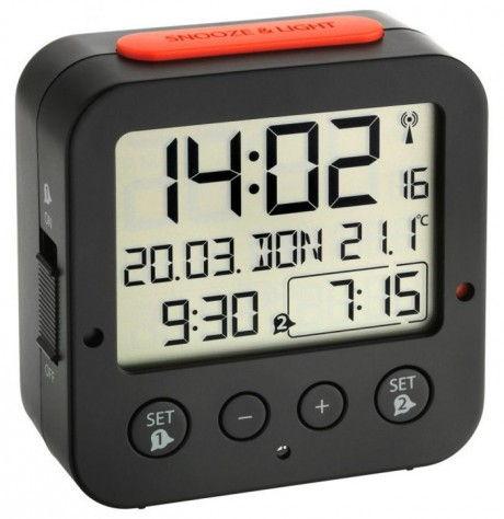 Reloj despertador digital con iluminación automática TFA 60.2528.01