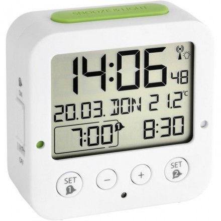 Reloj despertador digital con iluminación automática TFA 60.2528.02