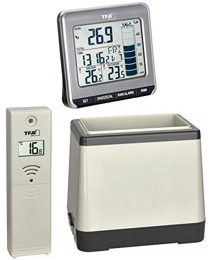Pluviómetro digital con temperatura interior y exterior TFA 47.3004.01