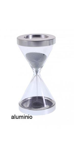 Reloj de arena de 1 minuto con diseño triangular y base plateada