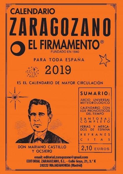 Calendario zaragozano 2019 de bolsillo