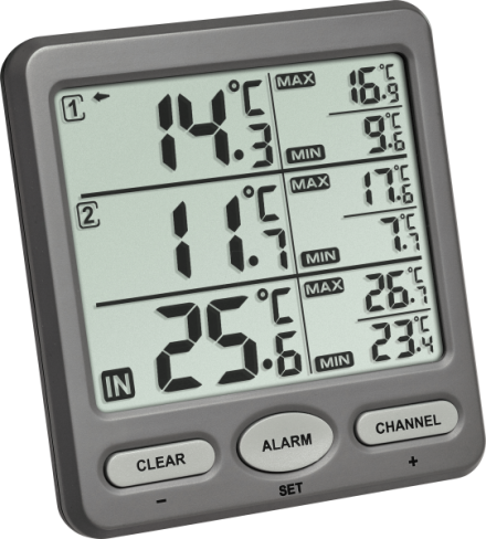 Termómetro digital para control triple TFA 30.3062.10