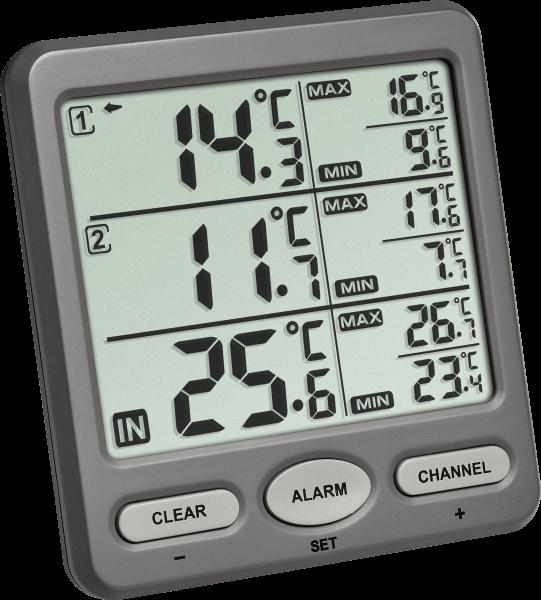 045530dfe Termómetro digital para control triple TFA 30.3062.10